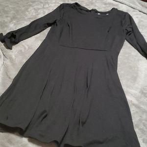 Loft Black 3/4 sleeve dress petite size